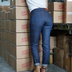 NWT NAKED & FAMOUS Kasuri Stretch Selvedge Jeans